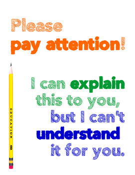 Please Pay Attention Poster