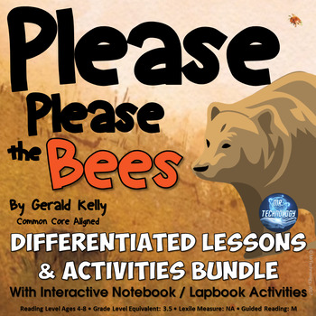 Please Please the Bees Differentiated Interactive Notebook Reading Activities