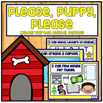 Please, Puppy, Please Kindergarten NO PREP RTI and Digital Review