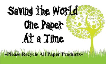 Please Recyle Poster