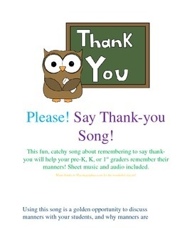 Please! Say Thank-you Song!