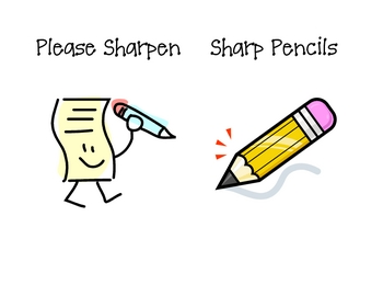Please Sharpen Pencil Signs