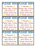 Please Sign Note