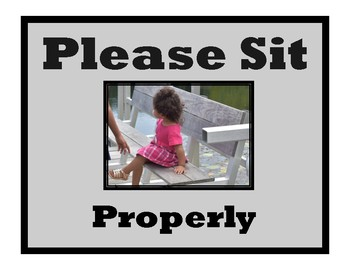 Please Sit Properly Sign