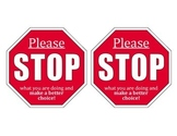 """""""Please Stop"""" Warning Cards"""