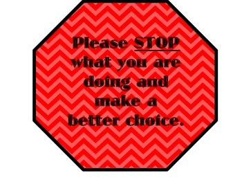 Please Stop What You Are Doing {Classroom Management}
