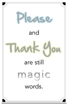 Please and Thank You Poster