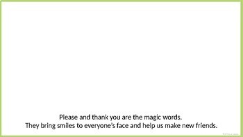 Please and Thank You - Social Story Template