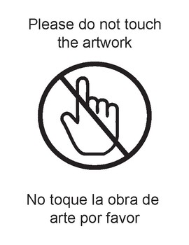 Please do not touch artwork