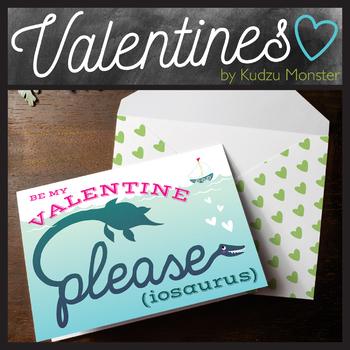 Please-iosaurus Dinosaur Valentine Card