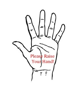 Please raise your hand sign