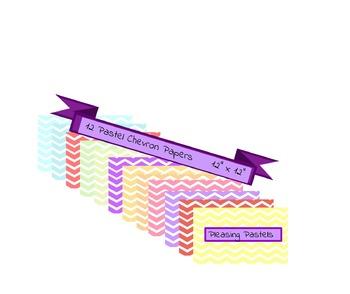 Pleasing Pastel Chevron Digital Paper