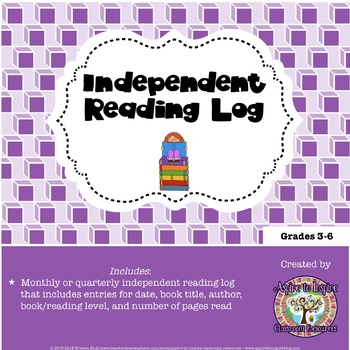 FREEBIE Independent Reading Log
