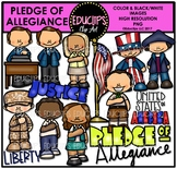 Pledge Of Allegiance Clip Art Bundle {Educlips Clipart}
