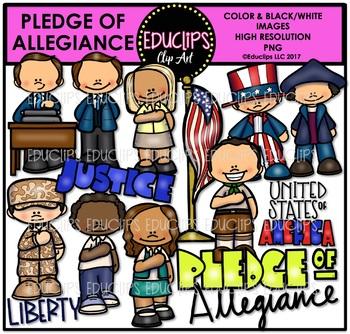 Pledge Of Allegiance Clip Art Bundle {Educlips Clipart}