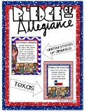 Pledge Of Allegiance and Pledge to the Texas Flag Posters