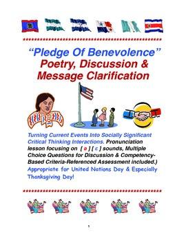 """""""Pledge Of Benevolence"""" Poetry, Discussion & Message Clarification"""