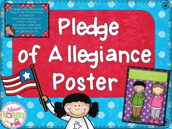 Pledge Poster {FREEBIE}