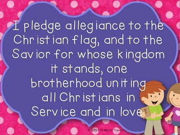 Pledge Posters for the Christian Classroom