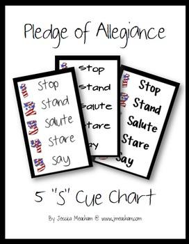 Pledge of Allegiance 5s Cue Chart
