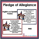Free Pledge of Allegiance  Posters in English and Spanish