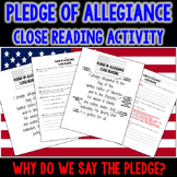 Pledge of Allegiance Close Reading Activity