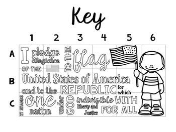 Pledge of Allegiance Collaborative Poster