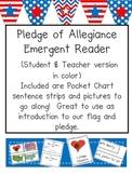 Pledge of Allegiance Emergent Reader and Pocket Chart Activity