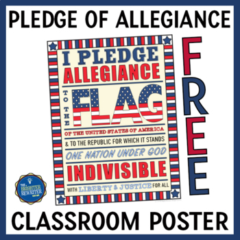 Pledge of Allegiance Coloring Page FREE