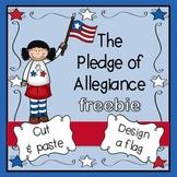 Pledge of Allegiance Freebie:  cut, paste, color, & write!
