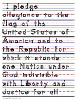 Pledge of allegiance coloring page | Homeschool | Pinterest ...
