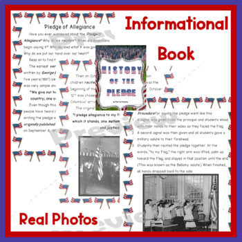 Pledge of Allegiance Activities  3rd, 4th, 5th Grades