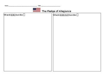 Pledge of Allegiance Illustration Sheet