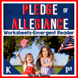 Pledge of Allegiance Reading Activities Kindergarten, 1st, 2nd
