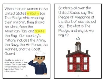 Pledge of Allegiance Mini-Book