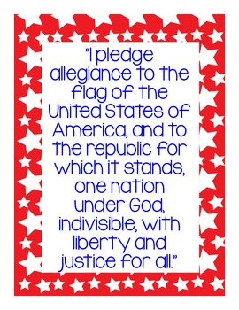 Pledge of Allegiance Mini-Poster