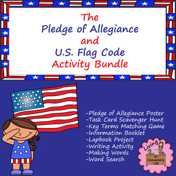 Pledge Of Allegiance Words Worksheets Teaching Resources Tpt