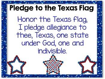 Pledge of Allegiance/ Pledge of Allegiance to Texas Flag - Bilingual