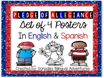 image regarding Pledge of Allegiance in Spanish Printable identify Pledge Of Allegiance Spanish Worksheets Education Supplies