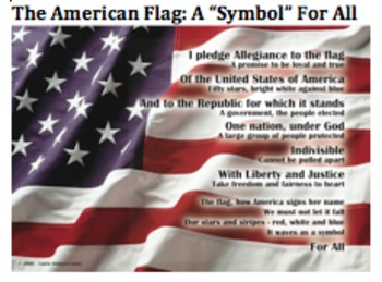 Pledge of Allegiance Poem Poster