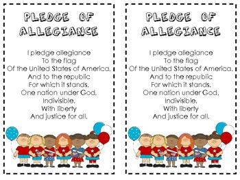 Pledge of Allegiance Poetry Pack