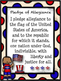 Pledge of Allegiance Poster #weholdthesetruths