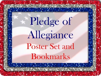 Pledge of Allegiance Poster Set and Bookmarks!!