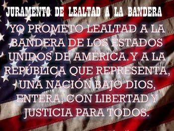 Pledge of Allegiance Poster Spanish