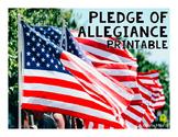 *FREEBIE* Pledge of Allegiance Printable
