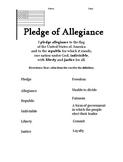 Pledge of Allegiance - Printable Handout
