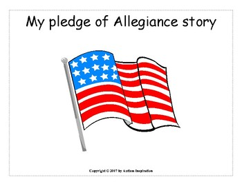 Pledge of Allegiance Social Story