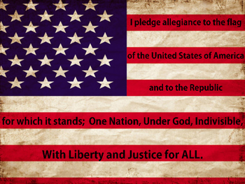 Pledge of Allegiance/United States Flag FREEBIE! Projectable/Printable