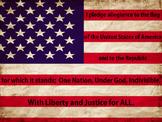 Pledge of Allegiance/United States Flag FREEBIE! Projectab
