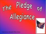 Pledge of Allegiance- Veterans' Day- Kindergarten or First grade